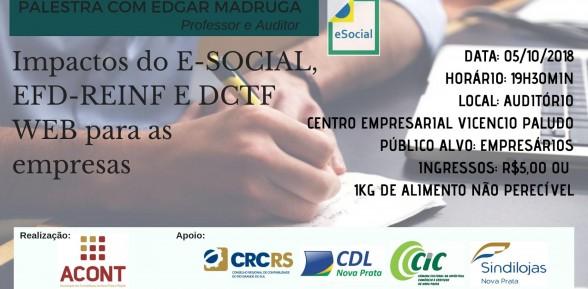 Importante palestra de E-social para empresas
